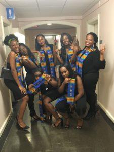 Handwoven kente stoles for MHC 2016 graduates