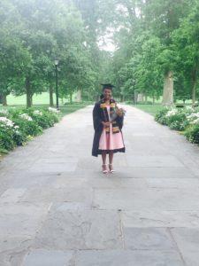Handwoven kente sash for Swarthmore College Graduate